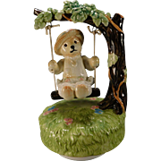 Bialosky Teddy  Bear Ceramic Music Box Goldie My Favorite Things