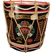 Regimental Drum Ice Bucket The Queens Own Cameron Highlanders