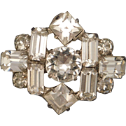 Vintage Mint Condition Petite Rhinestone Pin 1960s