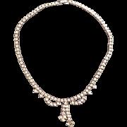 Mint Unused Kramer Rhinestone Necklace 1960s