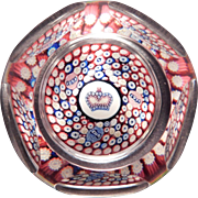 Queen Elizabeth Silver Jubilee Millefiore Paperweight by Whitefriars 1977