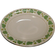 Oval Vegetable Dish American Ivy by Pope Gosser