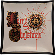 Merry Christmas Glass Greeting Card Houze Glass
