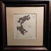 Bear Cubs Seriagraph Silkscreen Original Print by Gerald Nailor Navajo Tewa