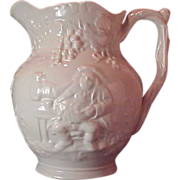 Spode Imperial Earthenware Jug with Raised Relief Characters
