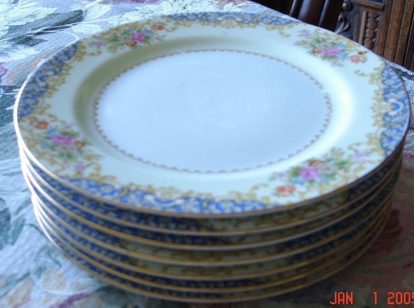 Vintage Early 1900 Noritake Gold Rimmed Salad or Dessert Plates
