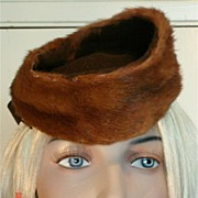 1940's Stylish Vintage Mink Fur and Felt Hat