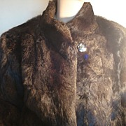 Luxurious Vintage Rabbit Fur Coat