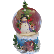 Vintage Snowman Musical Christmas Snowglobe