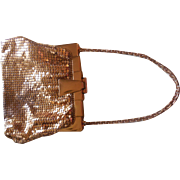 1920's Art Deco Whiting & Davis Gold Mesh Handbag
