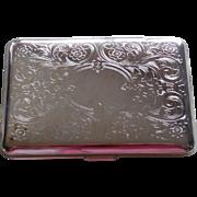 1920 Art Deco Silverplate Cigarette Case