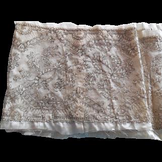 Rare Antique Fine Lace Panel