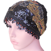 Rare 1920's Museum Quality Couture Evening Cloche