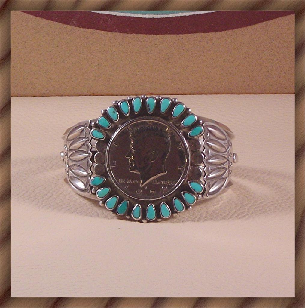 Native American Bracelet Honoring President Kennedy ca 1970's