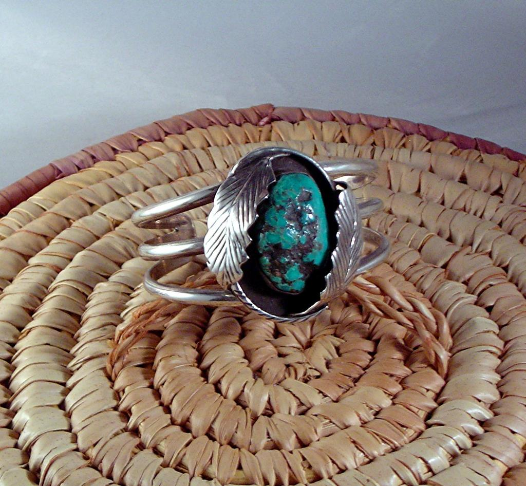 Navajo made Turquoise Nugget Bracelet ca 1970's