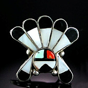 Vintage Zuni Channel Inlaid Ring ca 1970's