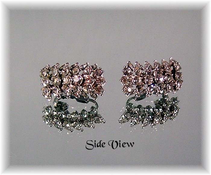 Tara Rhinestone Earrings ca 1950's-60's
