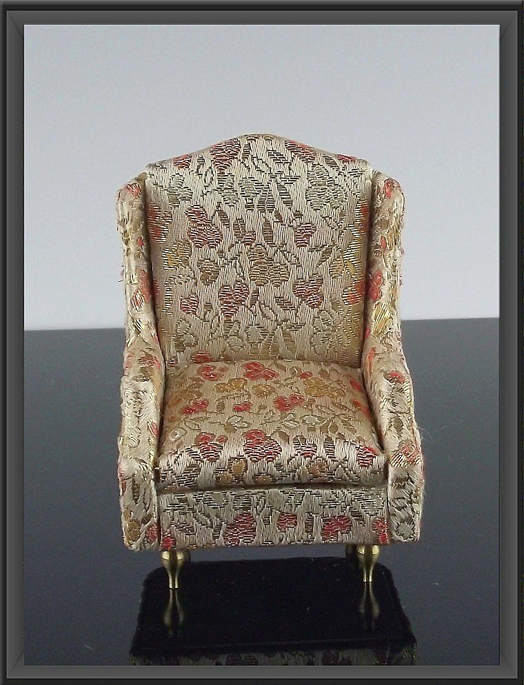 Ideal Petite Princess Miniature #4410-7 Salon Wing Chair ca 1964