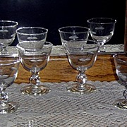Vintage Etched Glasses by Imperial in Simplicity Pattern