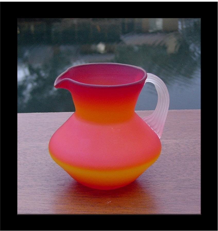 Hand Blown Miniature Satin Glass Pitcher