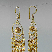 Gold Vermeil Dangle Earrings