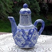 Unique Blue and White Tea Pot