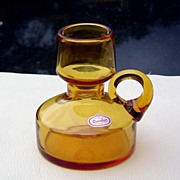 Hand Blown Bottle Neck Pitcher by Rainbow Glass ca 1960's