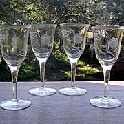 Cut Springtime Sherry/Port Glasses