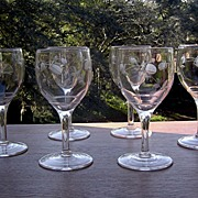 Berry Cut Wine Glasses