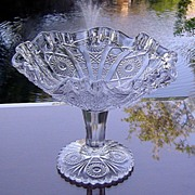 Imperial Glass Collectors Crystal Compote ca 1975