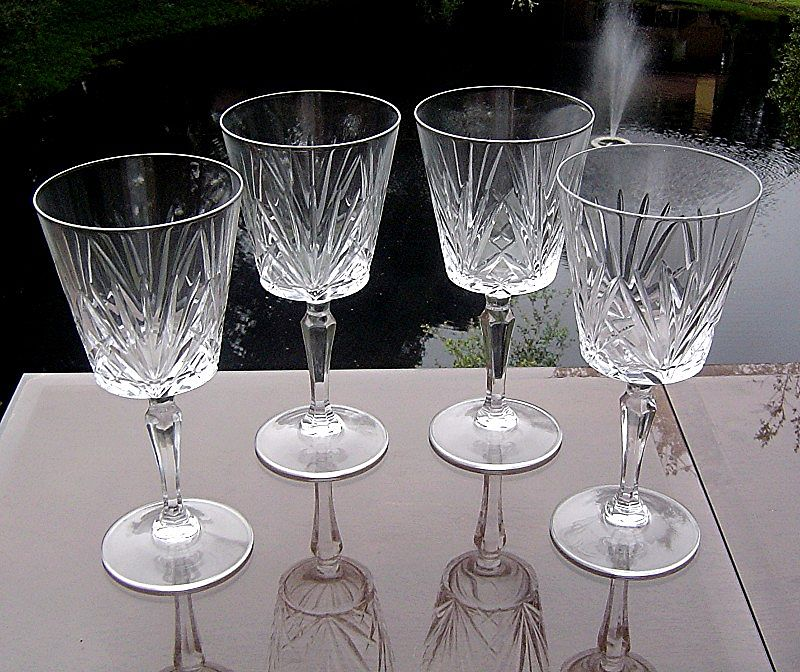 St. Maxime Water/Large Wine Goblets by Cris D'Arques