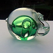 Hand Crafted Elephant Paperweight