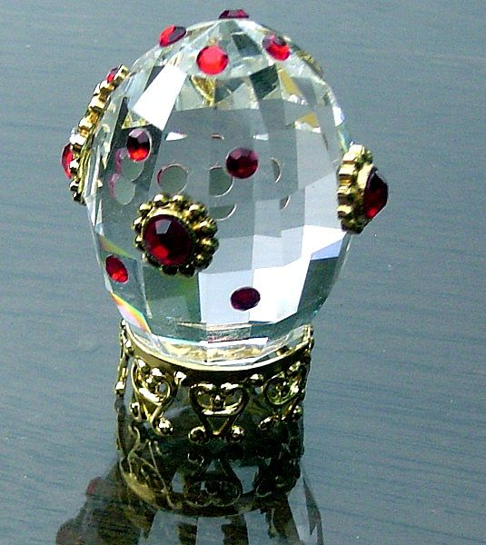 Miniature Hand Decorated Crystal Egg