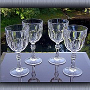 Chic Water/Large Wine Goblets by Royal Crystal Rock