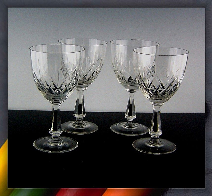 Esset Wine Glasses by Toscany Crystal Romania