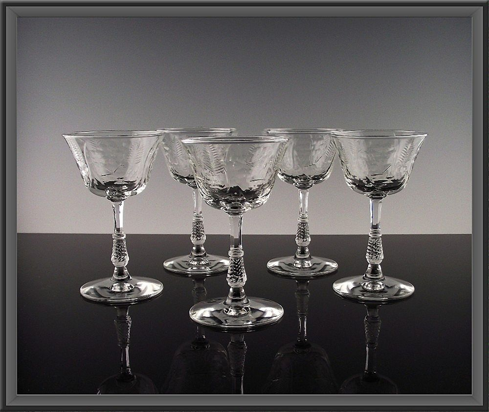 Elegant Libbey Rock Sharpe Liquor Cocktail ca 1940's