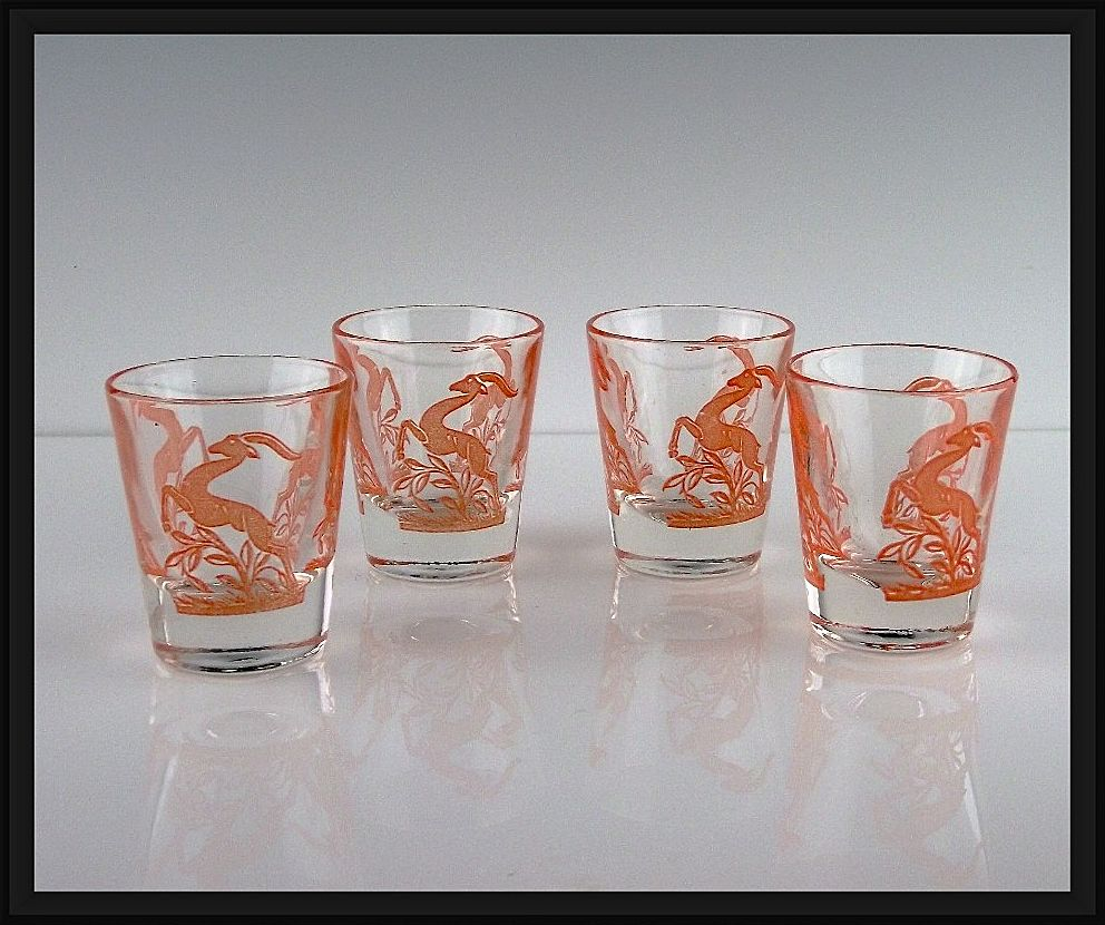 Set of Gazelle Shot Glasses ca 1951-1960