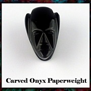 Hand Carved Onyx Paperweight