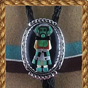 Outstanding Kachina Bolo by Beverly Etsate ca Early 70's