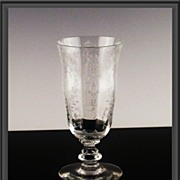 Tiffin June Night Footed Juice Glass ca 1941-1966