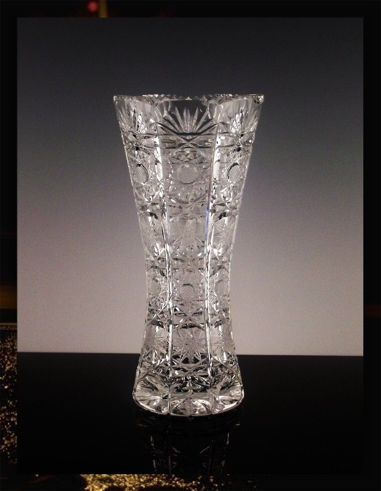 Hand Cut Slovak Crystal Vase