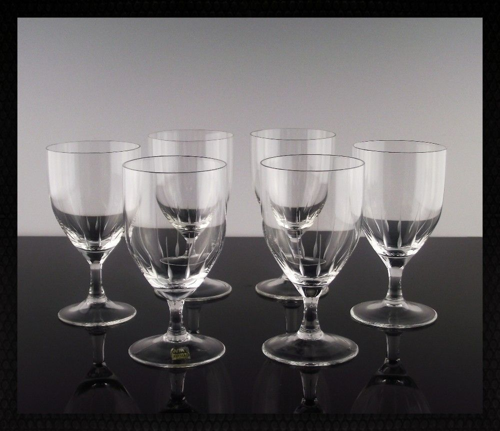 West German Crystal Port Sherry Glasses ca 1970-80