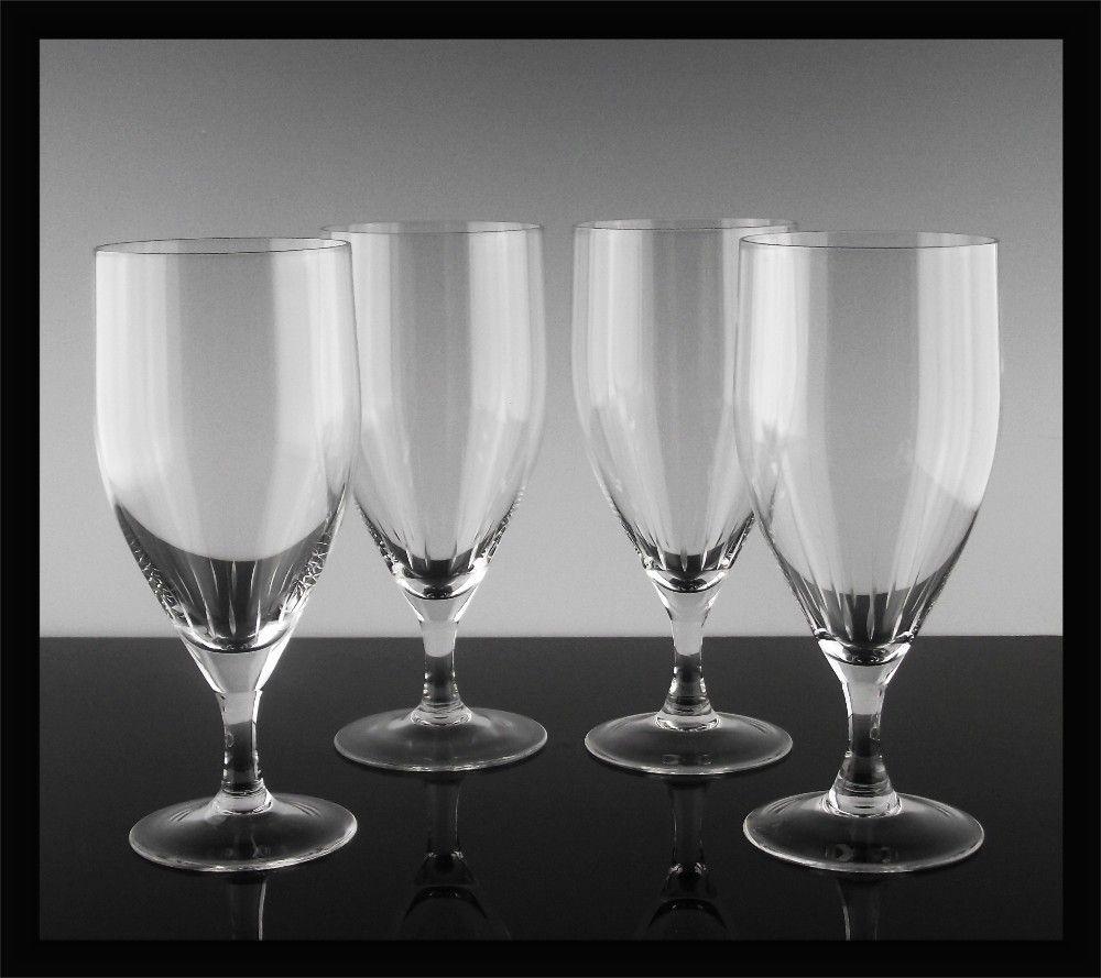 West German Crystal Water/Tea Glasses ca 1970-80