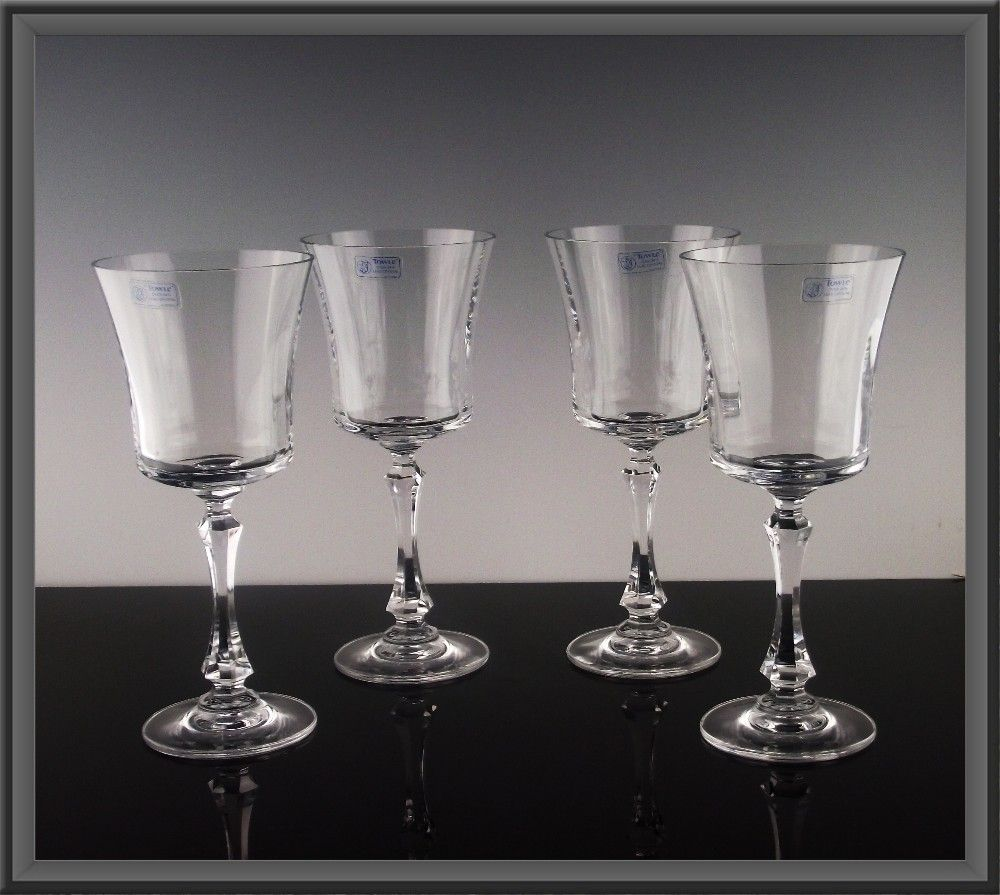 Towle Crystal Wine Goblets in Windham Pattern ca 1980's