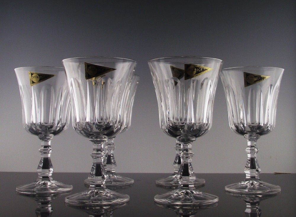 Royal Crystal Rock Pattern #9 Water/Large Wine Goblets