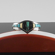 Sterling and Turquoise Bracelet ca 1975