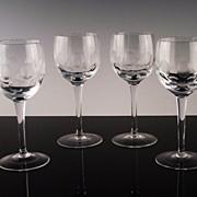 Thumbprint and Circle Wine Glasses