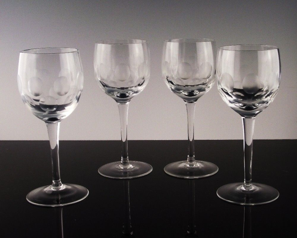Thumbprint and Circle Wine Glasses