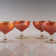 Marigold Carnival Dessert Dishes by Jeannette Glass ca 1920's