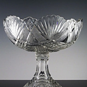 Stunning EAPG Star of David Compote ca 1890-1912